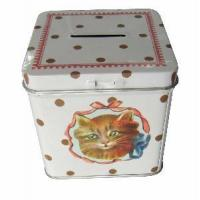 Buy cheap Square Coin Bank Tin from wholesalers