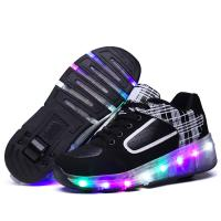 Quality Multicolors LED Casual Shoes Flashing Led Light up Roller Sneakers Unisex for Kinds for sale