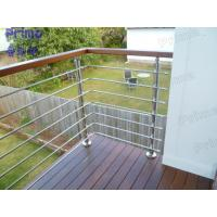 Quality s.s.304/316 stainless steel round pipe railing for veranda design for sale