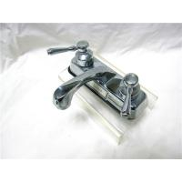 Quality Stainless Steel 2 Handle Kitchen Sink Faucet With Pull Out Sprayer / One Faucet Hole for sale