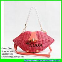 Wholesale LUDA 2016 fashion rattan hand plaited hobo shoulder bags from china suppliers