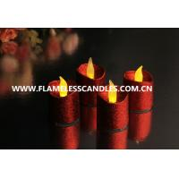 Wholesale Unscented Electric Flickering Votive Candles / Colorful Flameless LED Tealight Candles from china suppliers