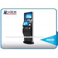 Wholesale Black Color LCD Touch Screen Coin Counting Kiosk Stand With Keyboard Dual Screen from china suppliers