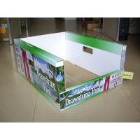China Strong and sturdy Corrugated point of purchase display PDQ Trays shelves for candies on sale