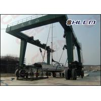 Wholesale ISO HM350T 300t  / 600t / 800t  travel lift crane for boat hoisting and boat lifting from china suppliers