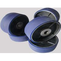 Wholesale Aging Resistant Industrial Blue PU Polyurethane Coating Wheels / Polyurethane Wheels with aluminum from china suppliers