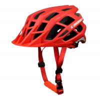 Wholesale Red Custom MTB Bike Helmet Youth With Visor Attachment Three Sizes 22 Vent Holes from china suppliers