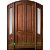 Wholesale External glazed Solid Timber Entry Door,fixed sidelites, clear or frosted glass from china suppliers