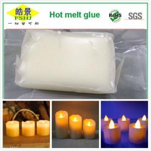 Wholesale Pressure Sensitive Hot Melt Adhesive , White EVA Hot Melt Glue Electronic Candle Adhesives from china suppliers