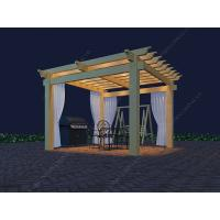 Wholesale wood Plastic Backyard Pergola (OLDA-5001)13ft.*13ft.*8ft. 4m*4m from china suppliers