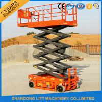 Wholesale Rough Terrain Scissor Lift , Hydraulic / Electric Motor Lift Drive Mobile Scissor Lift Trolley from china suppliers