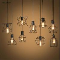 Wholesale Retro Lamp Shades Industry Metal Pendant Lamps Holder Vintage Style Iron Hanging Light Shade Edison Bulb Covers Drop from china suppliers
