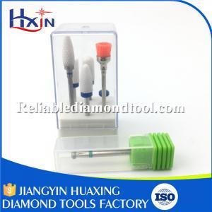 Quality Ceramic Nail Drill Bit Set , Diamond Nail Bit Shank Diameter for 2.35mm for sale