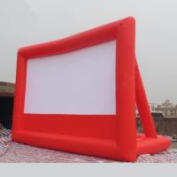 Wholesale 1 Year Warranty Red / Black Inflatable Movie Screen Fireproof For Play Movies from china suppliers