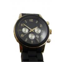 Wholesale Silicone Band Men Quartz Watches , Sports Metal Case 3 Dials Watch from china suppliers