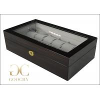 Wholesale Twelve Wooden Watch Display Box Cherry Finish Grey Interiors Gold Hardwares from china suppliers