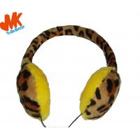 Wholesale 3.5mm Winter Warming Fur Earmuffs Stereo Headphone For video chat or online gaming from china suppliers