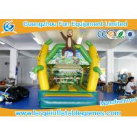 Wholesale 4*3 M PVC Tarpaulin Inflatable Bouncy Castle Monkey Jumping Area house from china suppliers