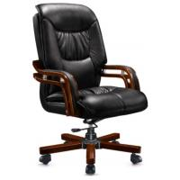 Wholesale Leather Wooden frame High Back Swivel Antique Office Chai from china suppliers
