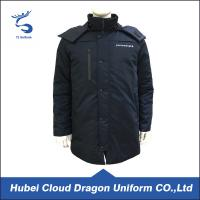 Wholesale Two Layers Dark Navy Security Guard Coats Waterproof Cold Resistance Work Jacket from china suppliers
