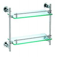 Wholesale 1452 bathroom double glass shelf from china suppliers