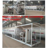 Wholesale 2018s mobile Lpg filling plant with gas storage tank  12.5tons skid lpg gas refilling station with digital scales from china suppliers
