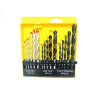 Wholesale 15pcs Construction Drill Bits Set With Masonry Drills / Twist Drills / Wood Working Drills from china suppliers