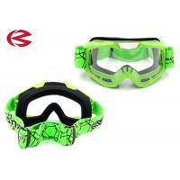 Wholesale Mx Full Face Mask Customized Motorcycle Prescription Riding Glasses Green from china suppliers