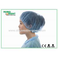 Quality Printed PP Bouffant Disposable Head Cap Non woven Round light weight for sale