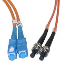 Wholesale MM Fiber Optic ST to SC 50 / 125 μm Duplex Patch Cord for Gigabit Ethernet from china suppliers