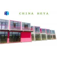 Earthquake Proof Double Storey Prefab Houses Cargo Container Hotel Room Design