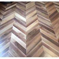 Wholesale Chervon American Walnut Engineered Wood Flooring, C grade and natural color lacquered from china suppliers