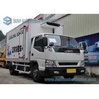 China Euro 4 3000KG JMC Refrigerated Box Truck refrigerator freezer cargo van on sale
