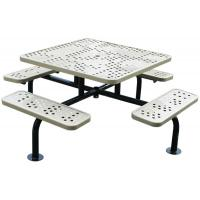 Wholesale Recycled Outside 4 Picnic Table , Square / Round Metal Picnic Table With Benches from china suppliers
