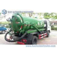 Quality Foton Small 4x2 3m3 To 4m3 Sewage Suction Tanker Truck , Sewage Disposal drainage septic tank for sale