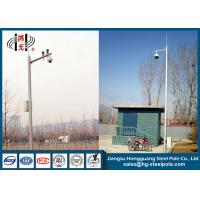 Wholesale Monitor Cctv Mounting Poles / Security Camera Pole  For Security Q235 With Single Arm from china suppliers
