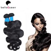 Quality Smooth No Chemical Brazilian Virgin Hair / Body Wave Hair Weft No Splits for sale