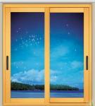 1.0mm - 1.2mm profile thickness electrostatic powder coated aluminum sliding glass doors
