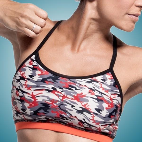 Customized Sublimated Tight Womens Yoga Wear / Yoga Bra