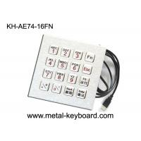 Wholesale Full Function Computer Vandal Resistant Industrial Pc Keyboard In 16 Keys , Usb Interface from china suppliers