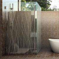 Wholesale Etched Glass for Shower Enclosures, with Frosted Pattern from china suppliers