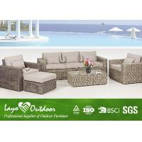 Wholesale European Style Sofa Patio Outdoor Furniture Colorfast Durable PE Rattan Wicker from china suppliers