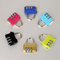 Wholesale Travel Luggage Resettable Combination Padlock 3 Numbers For Password Suitcase from china suppliers