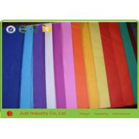 Wholesale 50 X 75 CM 21 GSM Custom Tissue Paper With Logo , Plain /  Solid Colorful Wrapping Paper from china suppliers