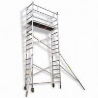 Wholesale Aluminum Mobile Scaffolding with 300mm Rung Space from china suppliers