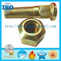 Buy cheap Customized High Strength Yellow Zinc Plated Wheel Bolts and Nut For Tractor,Auto high tensile bolt,Zinc Kurled neck bolt from wholesalers