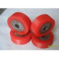Wholesale Oil Resistant Industrial Red PU Polyurethane Coating Rollers Wheels / Polyurethane Wheels from china suppliers