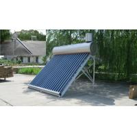 Wholesale Stainless Steel Solar Vacuum Tube Water Heater With Assistant Tank , 20 Tubes Mauritius Type from china suppliers