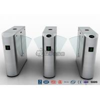 Wholesale Pedestrian Control Electronic Flap Barrier Gate Acrylic Counter Turnstiles DC24V from china suppliers