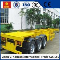 Wholesale 40 Ton Skeleton Container Semi Flat Bed Trailors 3 Axle 12400 * 2500 * 1520mm from china suppliers